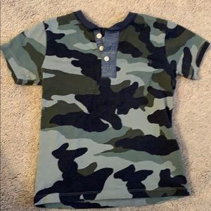 Crewcuts boys camo shirt size 4/5